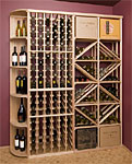 Premium 7ft. Wood Wine Rack