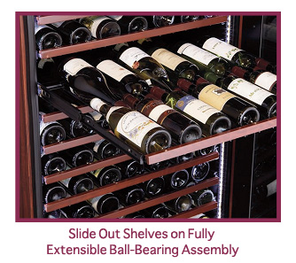 wine cabinet slide out shelves