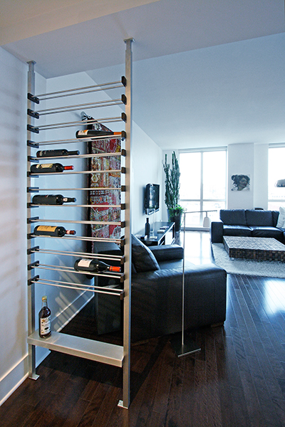Millesime Wine Racks acting as a room partition
