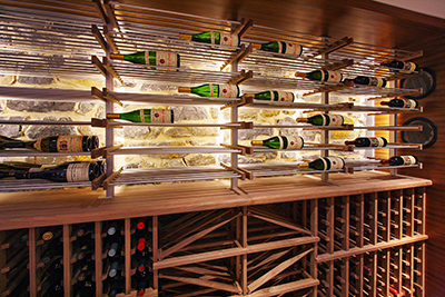 Back lit – Millesime & wood wine racks
