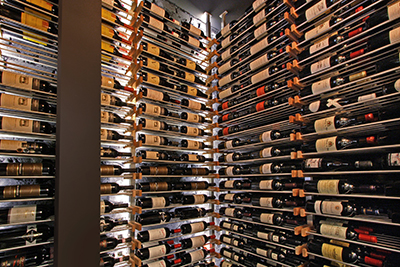 Millesime Wine Racks to display bottle lables