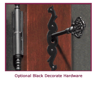 Wine cabinet optional black decorative hardware