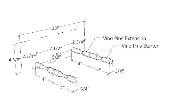 Peg System - Vino Pins Installation Diagram