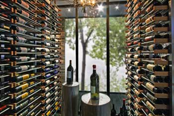 Wine Bottles displayed on Millesime Wine Racks.