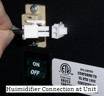 All-In-One Interface Controller: Humidifier Connection at Unit